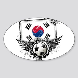 Soccer Fan South Korea Sticker (Oval)