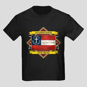 31st Alabama Infantry Kids Dark T-Shirt