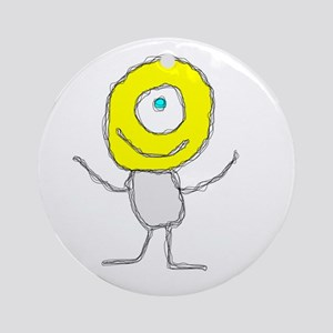 One Eyed Happy Dude Ornament (Round)