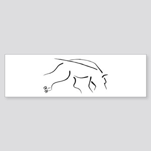 Tracking Dog - black Sticker (Bumper)