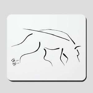 Tracking Dog - black Mousepad
