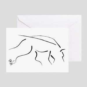 Tracking Dog - black Greeting Card