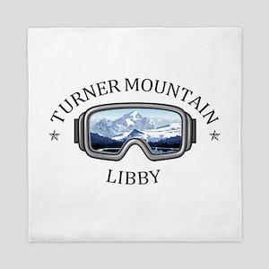 Turner Mountain - Libby - Montana Queen Duvet