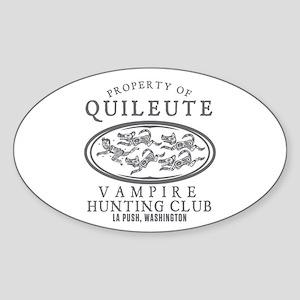 Vampire Hunt Club Sticker (Oval)