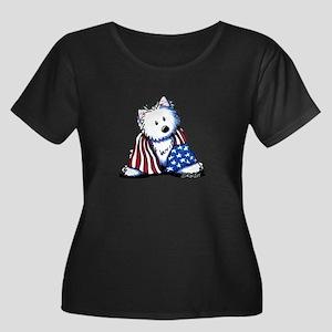 Patriotic Westie Women's Plus Size Scoop Neck Dark