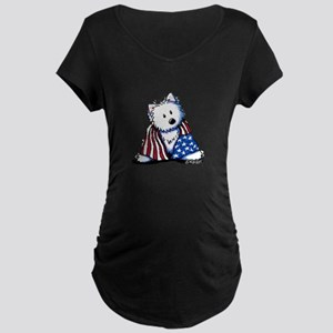 Patriotic Westie Maternity Dark T-Shirt