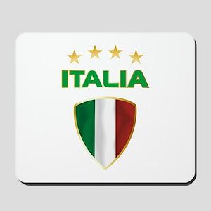 Soccer Crest ITALIA gold Mousepad