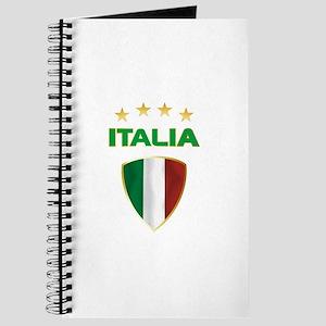Soccer Crest ITALIA gold Journal