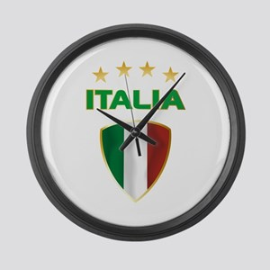Soccer Crest ITALIA gold Large Wall Clock