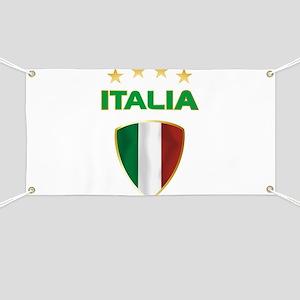 Soccer Crest ITALIA gold Banner