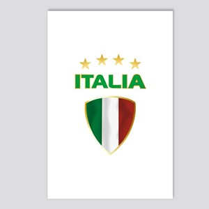 Soccer Crest ITALIA gold Postcards (Package of 8)