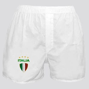 Soccer Crest ITALIA gold Boxer Shorts