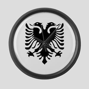 Albanian Eagle Large Wall Clock