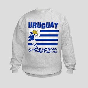 Uruguayan soccer Kids Sweatshirt
