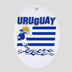 Uruguayan soccer Ornament (Oval)