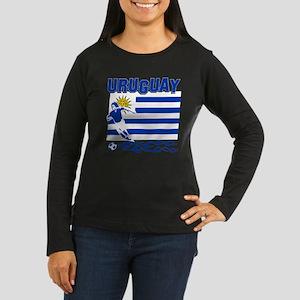 Uruguayan soccer Women's Long Sleeve Dark T-Shirt