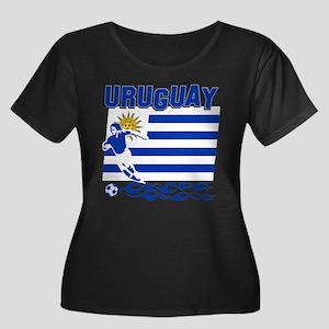 Uruguayan soccer Women's Plus Size Scoop Neck Dark