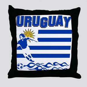 Uruguayan soccer Throw Pillow