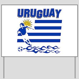 Uruguayan soccer Yard Sign