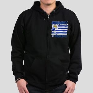 Uruguayan soccer Zip Hoodie (dark)