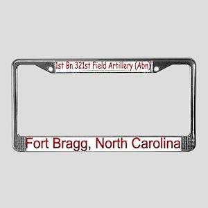 1st Bn 321st FA (ABN) License Plate Frame