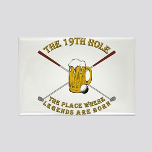 The 19th Hole Rectangle Magnet