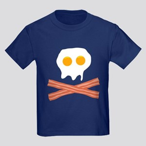 Eggs Bacon Skull Kids Dark T-Shirt