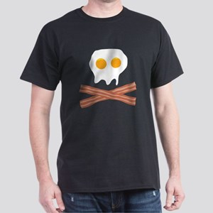 Eggs Bacon Skull Dark T-Shirt