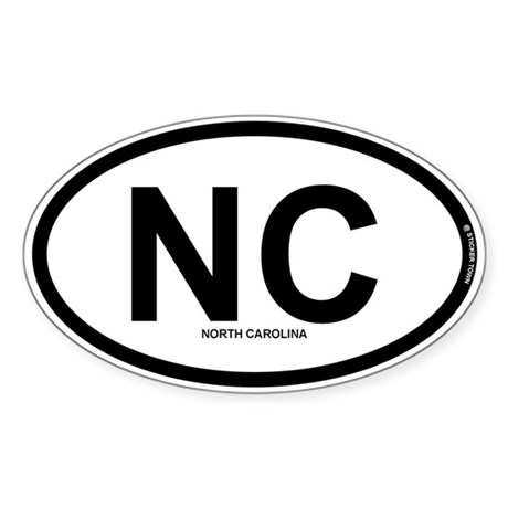 NC - North Carolina Sticker (Oval)