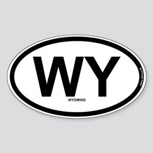 WY - Wyoming Sticker (Oval)