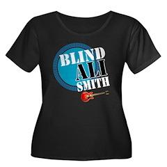 Blind Ali Women's Plus Size Scoop Neck Dark T-Shir
