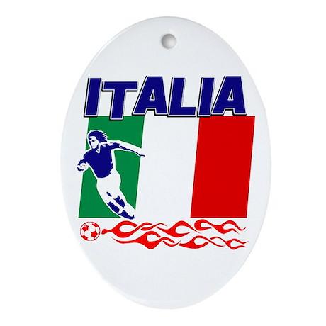 Italian soccer Ornament (Oval)