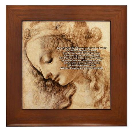 Da Vinci Art with Shakespeare Framed Tile