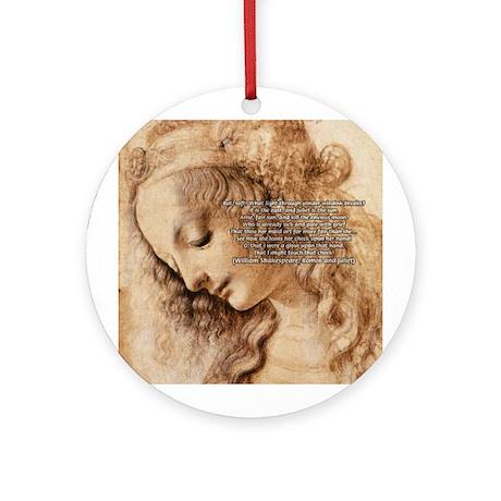 Da Vinci Art with Shakespeare Ornament (Round)