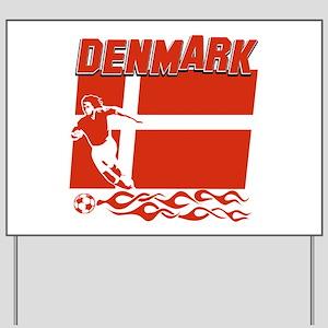 Danish soccer Yard Sign