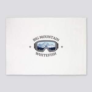 Big Mountain - Whitefish - Montan 5'x7'Area Rug