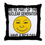 Nuclear Generation Throw Pillow
