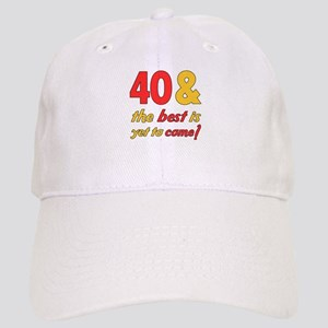 40th Birthday Men Hats - CafePress 4fa5d5f44c1