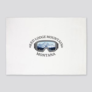 Red Lodge Mountain Resort - Red L 5'x7'Area Rug