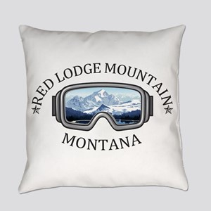 Red Lodge Mountain Resort - Red Everyday Pillow