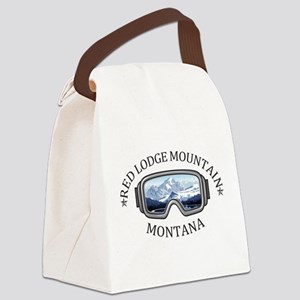 Red Lodge Mountain Resort - Red Canvas Lunch Bag