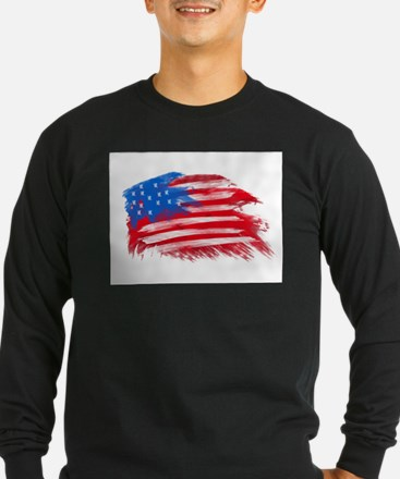 US Flag - White Background T