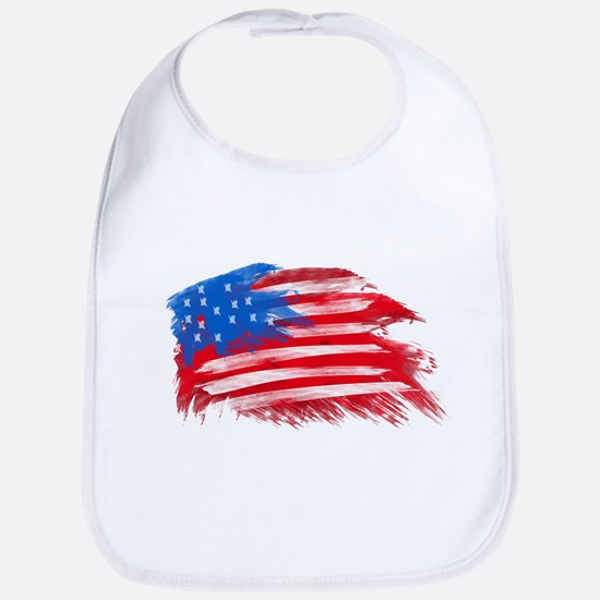 US Flag - White Background Bib