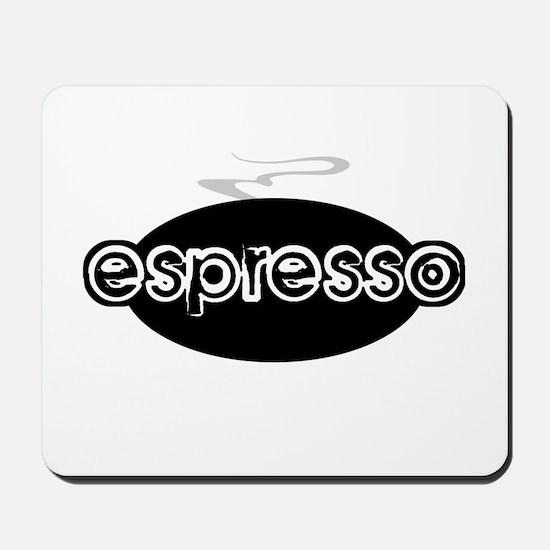 Espresso Steam Logo Mousepad