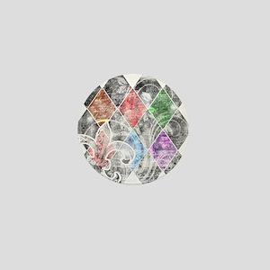 Argyle Grunge Mini Button