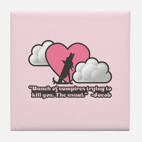 Vampires the Usual Tile Coaster