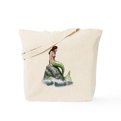 Pensive Mermaid Tote Bag
