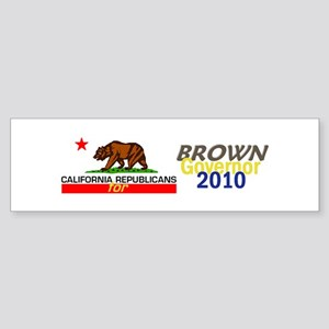 Brown Governor Sticker (Bumper)