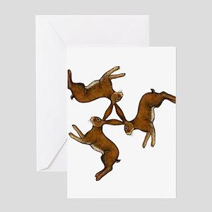 Splitting Hares Greeting Card