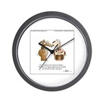 MY DOG SPOT by April McCallum Wall Clock